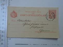 D150076 Hungary Postal Stationery - Zart Levelezolap SZELEVÉNY - To GYOMA  1912 Jeléssy Zoltan Alt. Isk. Ig.
