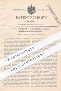 Original Patent - Otto Krecklow , Berlin / Schöneberg , 1895 , Ausziehtisch Mit Klappfüßen | Tisch , Tische , Tischler - Historische Dokumente
