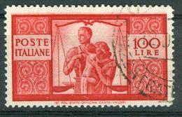 BM Italien 1945 - MiNr 704 A (gez. K 14) - Used - Demokratie - 4. 1944-45 Sozialrepublik