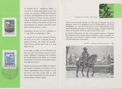 Feuillet Poste FDC 1121 Comtesse De Tassis Messager