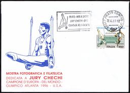 GYMNASTICS / OLYMPIC WINNER - ITALIA PRATO 1997 - PRATO: ARTE E SPORT - JURY CHECHI ORO OLIMPIADE ATLANTA 1996 - Gymnastik