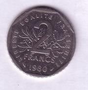 Lot N° 81-  Pièce De 2 Francs Semeuse 1980 - France