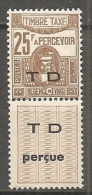 TUNISIE - Yv  TAXE N°  56A  ** MNH  25f   Cote  4  Euro  TBE    2 Scans - Tunisia (1888-1955)