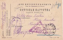 Russie Carte Prisonniers De Guerre 1917 Scan R/V.
