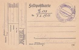 Carte Militaire Allemagne, Felpost 1916. Scan R/V.