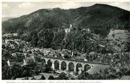 Hornberg - Blick Auf Die Stadt Und Viadukt 1959 (000349) - Hornberg