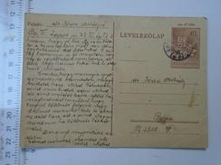 D150079 Hungary Postal Stationery -Budapest - Papa 1951- Jozsa Mihaly