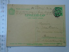 D150080 Hungary Postal Stationery -Budapest -1934 - Jozsa Tivadar -Dr. Petrich Béla