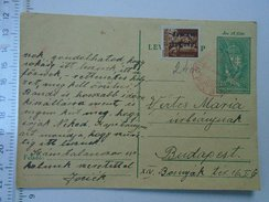 D150081 Hungary Postal Stationery -Budapest -1946 -  Stamp Ovpt. Tavolsagi Lev.-lap
