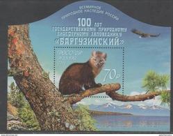 RUSSIA, 2016, MNH,NATURE RESERVES, BARGUZINSKY BIOSPHERE NATURE RESERVE, MOUNTAINS, FAUNA, BIRDS, SLT
