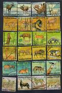 BURUNDI Animali SERIE COMPLETA TIMBRATA 48v  Ingiallimenti Cod. Fra.979