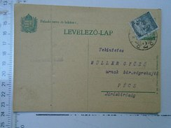 D150082  Hungary Postal Stationery -Pécs  -1926 -   Additional  Stamp 500 Korona