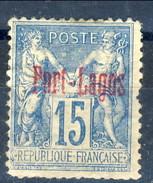 Port Lagos 1893 N. 3 C. 1 5 Azzurro MH Cat. € 110 - Unused Stamps