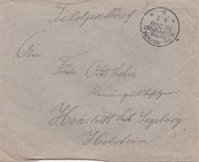 Lettre Allemagne Marine Schiffspost 1917.