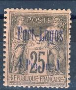 Port Lagos 1893 N. 4 P. 1 Su C. 25 Nero Su Rosa MH Cat. € 90 - Unused Stamps