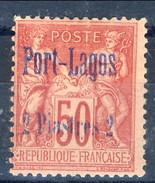 Port Lagos 1893 N. 5 P. 2 Su C. 50 Rosa MLH Cat. € 220 - Unused Stamps