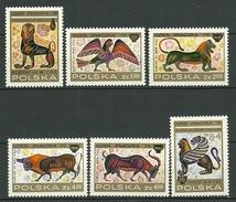 POLAND MNH ** 2293-2298 Journée Du Timbre, Spinx Sirène Lion Taureau Bouc Peintures Grecques Sur Vases Art - 1944-.... Republic