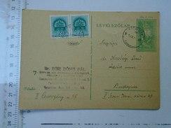 D150088  Hungary Postal Stationery  -1941 Budapest-Dr. Egri Bonis Pal  RACALMAS