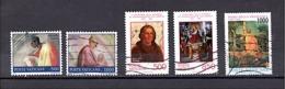 VATICAN N° 897 900 919 921 928 (YT) CHAPELLE SIXTINE,  EVANGELISATION AMERIQUES,PIERRO DELLA FRANCESCA - Vatican