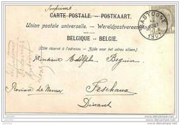 FESCHAUX ..-- BASTOGNE ..--  Précurseur .  1901 Vers FESCHAUX ( Mr Adolphe BEGUIN ) . Voir Verso . - Beauraing