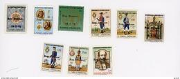 Sao Tome-1976-Divers Timbres Surchargés-série 13/21***mnh