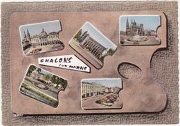 51 - CHALONS-SUR-MARNE (Marne) - Multi-vues - Années 50 / Voitures - Châlons-sur-Marne