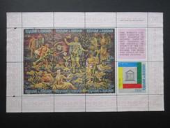 FEUILLET TIMBRE BURUNDI (M1699) Thème TAPISSERIE (2 Vues) UNESCO 1,50F