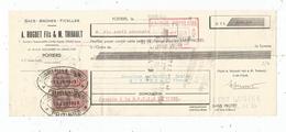 Lettre De Change , 1943 , Sacs , Baches , A. Huguet Fils & M. Thibault , Poitiers , 2 Scans , Frais Fr : 1.55 Euros - Bills Of Exchange