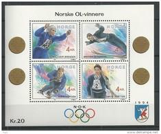 1992 MNH Norway, Postfris** - Winter 1994: Lillehammer