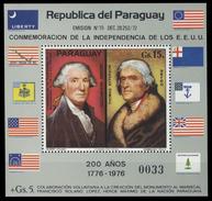 Paraguay Bf 260 Pères Fondateurs , Thomas Jefferson , George Washington , Drapeaux