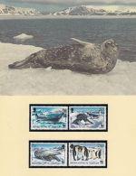 WWF Full Set 4 X Maxi Cards 4 X FDCs British Antarctic Territory Seals Penguins