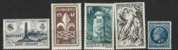 """FR YT 786 à 788 790 791 """" 5 TP De L´année """" 1947 Neuf* - France"""