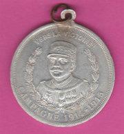 Ww1 Général Joffre Catalan 1915 Mascotte Du Vaillant Soldat Alu Diam 3.6 Cms Poilu - France