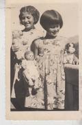 Giocattoli Bambole Doll Fotocartolina Bambine Con Bambole 1940 Pelouche  Gg - Giochi, Giocattoli
