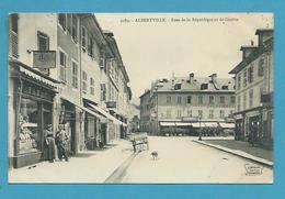 CPA 2189 - Commerces Tabac Rues De La République Et De Genève ALBERTVILLE 73 - Albertville