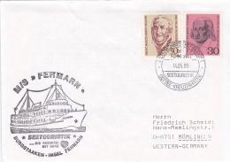M/S Fehmarn Burgstaaken Insel Fehmarn P/m Deutsches Schiffspost 1989 Ostsee Kreuzfahrten (T13-1A) - Ships