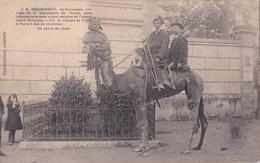J.B. DOUSSINEAU - Victime De La Compagnie De L'Ouest - Voyage à Dos De Chameau De Vichy à Paris - Cartes Postales
