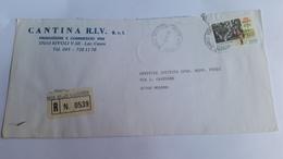 ITALIA 7/11/88- (88) RACCOMANDATA CON ALTO VALORE SERIE CINEMA USO ISOLATO - 1981-90: Storia Postale