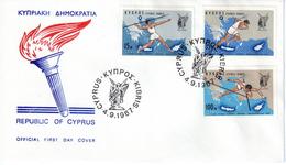Zypern 1967 Mi. 295-297 FDC Leichtathletik-Spiele (pü0006) - Lettres & Documents