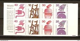 Berlin 1972/73 - Prévention Des Accidents - Carnet  394 MNH - TP 388/89 Et 394/95 En 2 Exemplaires