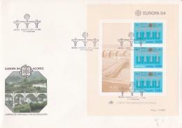 Acores 1984 FDC Europa CEPT Souvenir Sheet (LAR5-11) - Europa-CEPT