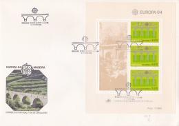 Madeira 1984 FDC Europa CEPT Souvenir Sheet (LAR5-11) - 1984