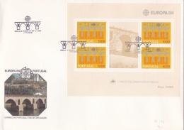 Portugal 1984 FDC Europa CEPT Souvenir Sheet (LAR5-11) - Europa-CEPT