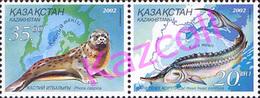 Kazakhstan 2002. Fauna Of Sea.Ukraine & Kazakhstan Joint Issue. Fauna.  Mi. # 394-395