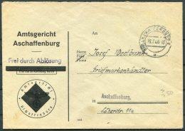 1946 Germany 'Frei Durch Ablosung Reich' Aschaffenburg Cover - Deutschland
