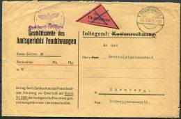 1947 Germany 'Frei Durch Ablosung' Feuchtwagen Amtsgerichts Nachnahme Cover - Nurnberg - Ohne Zuordnung