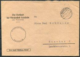 1946 Germany 'Frei Durch Ablosung Reich' Kaisheim Cover - Deutschland