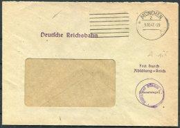 1947 Germany 'Frei Durch Ablosung Reich' Munchen Deutsche Reichsbahn Railway Cover - Ohne Zuordnung