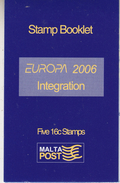 Europa Cept 2006 Malta Booklet ** Mnh (35726) Promotion - 2006