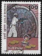 India 1980 Gold Mining Used Stamp # AR:22 - India